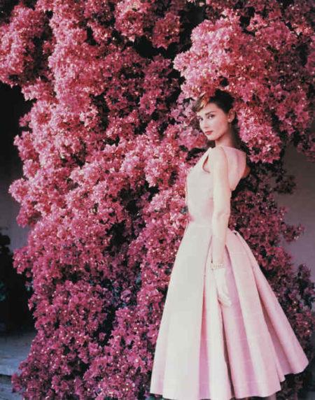 Norman Parkinson-Audrey Hepburn With Flowers, Vogue-1955