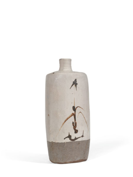 William Marshall-Tall Vase With Brushed Motif-