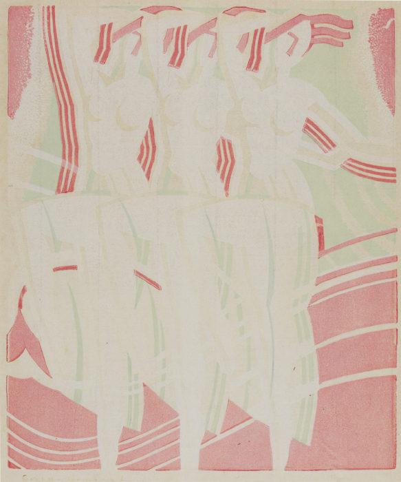 Leonard Beaumont-Dancing Nymphs (D. 70)-1934