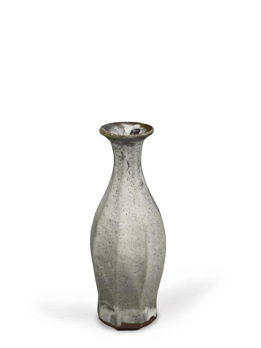 Shoji Hamada-White Faceted Vase-