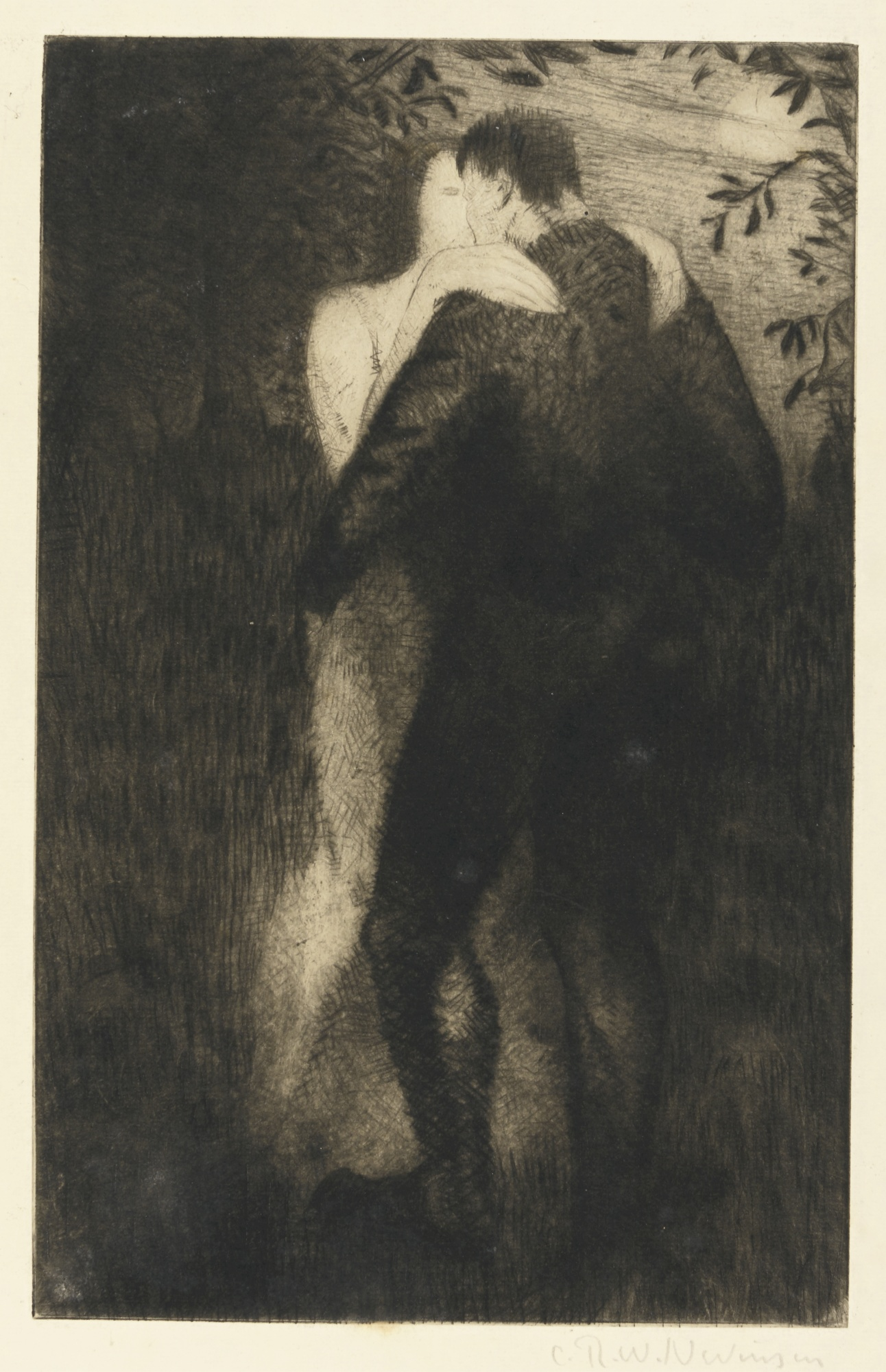 Christopher R. W. Nevinson-Lovers (Black 62)-1919