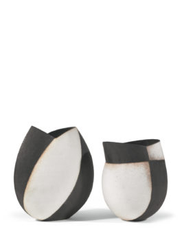 John Ward-Two Black And White Vessels