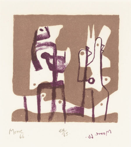 Henry Moore-Two Upright Motives (C. 64)-1966