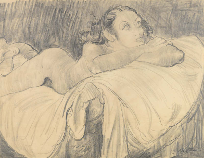 Jacob Epstein-Reclining Nude-