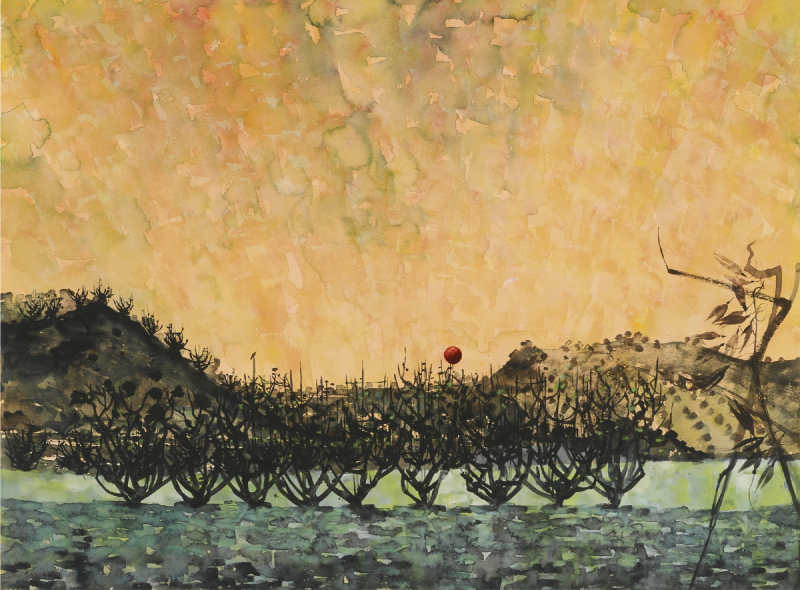Alan Reynolds-The Orchard Sunset-1958