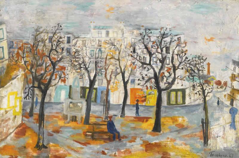 Julian Trevelyan-Place Henri Rollet, Quinzieme Arrondissement, Paris-1947
