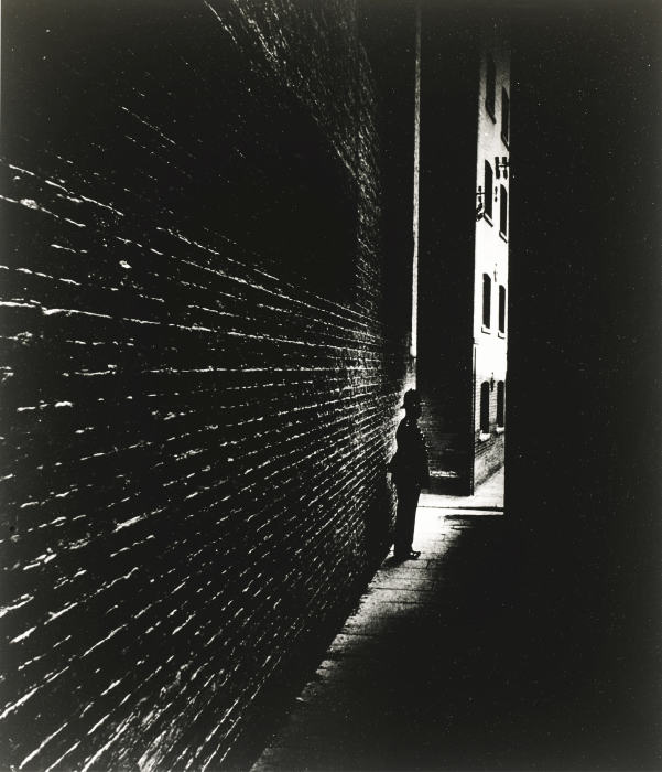 Bill Brandt-Bermondsey Policeman; Alley Off East India Dock Road, London-1939