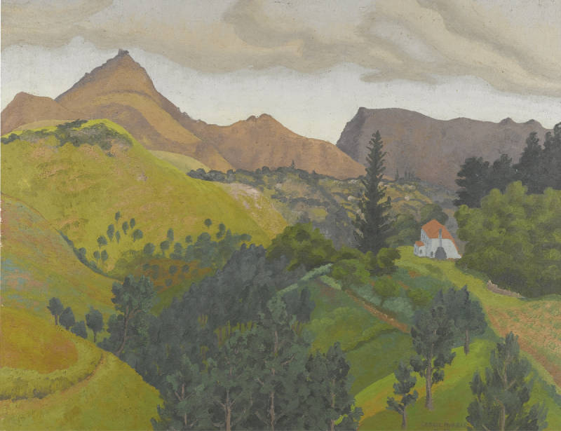 Cedric Morris-Distant View Of Napoleon's Residence On St. Helena-1964