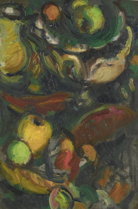 Matthew Smith-Still Life With Bowl, Pears, And Melon Slices-1945