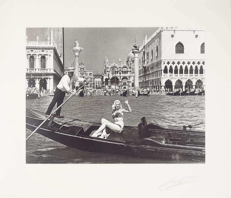 Cornel Lucas-Diana Dors In Mink Bikini, Venice, Newsreel Cameramen-1955
