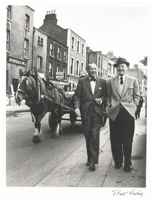 Bert Hardy-Noel Coward With John Gielgud In Dublin-1954