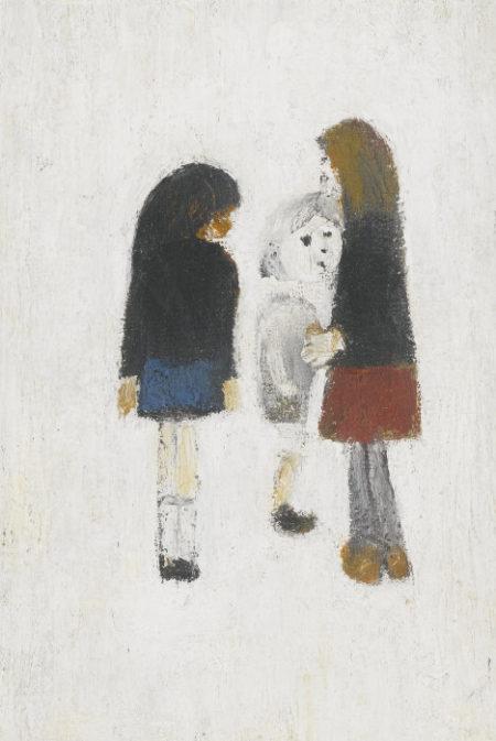 Laurence Stephen Lowry-Three Children-