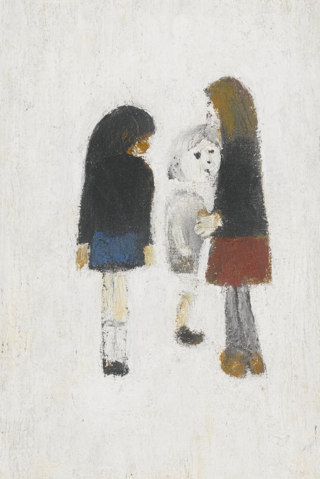 Laurence Stephen Lowry-Three Children-