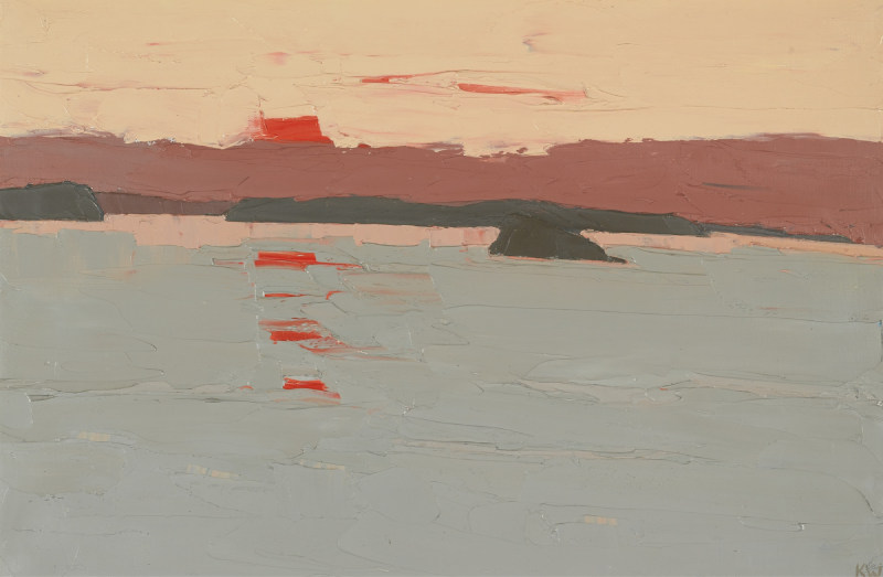 Kyffin Williams-Sunset Over Anglesey-