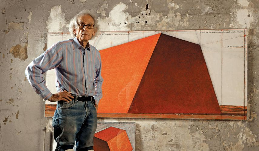 Christo in his studio