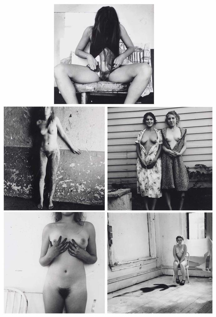 Francesca Woodman-(i) Self Portrait, Providence, Rhode Island; (ii) Untitled, Rome (iii); Me And My Roommate, Boulder, Colorado; (iv) Untitled, Providence, Rhode Island; (v) Untitled, Providence, Rhode Island-1976