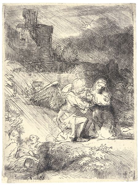 Rembrandt van Rijn-The Agony In The Garden (B., Holl. 75; New Holl. 269; H. 293)-1652