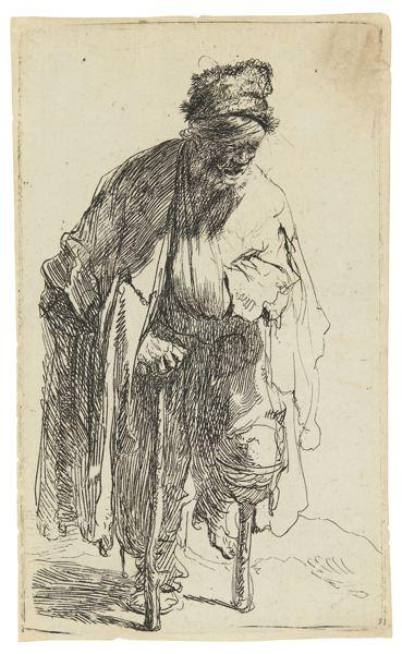 Rembrandt van Rijn-Beggar With A Wooden Leg (B., Holl. 179; New Holl. 49; H. 12)-1630
