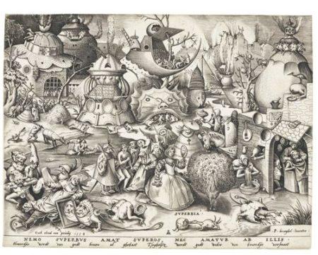 Pieter Bruegel the Elder-After Pieter Bruegel the Elder - The Seven Deadly Sins (Bast., Holl. 125-131; New Holl. 21-27; L. 18-24)-1558