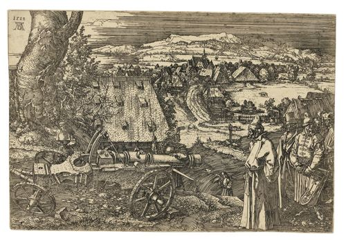 Albrecht Durer-The Landscape With The Cannon (B. 99; M., Holl. 96)-1518