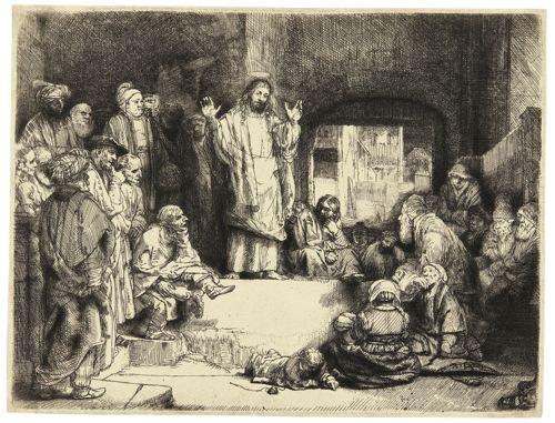 Rembrandt van Rijn-Christ Preaching ('La Petite Tombe') (B., Holl. 67; New Holl. 298; H. 256)-1652