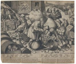 Pieter Bruegel the Elder-After Pieter Bruegel the Elder - Nemo Non: Everyman Looks For His Own Profit (Bast., Holl. 152; New Holl. 35; L. 26)-1558