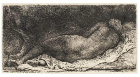 Rembrandt van Rijn-Negress Lying Down (B., Holl. 205; New Holl. 308; H. 299)-1658