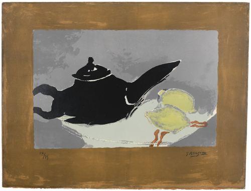 Georges Braque-Theiere Et Citrons (Vallier 44)-1949