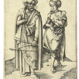Albrecht Durer-The Turkish Family (Bartsch 85; Meder, Hollstein 80)-1496