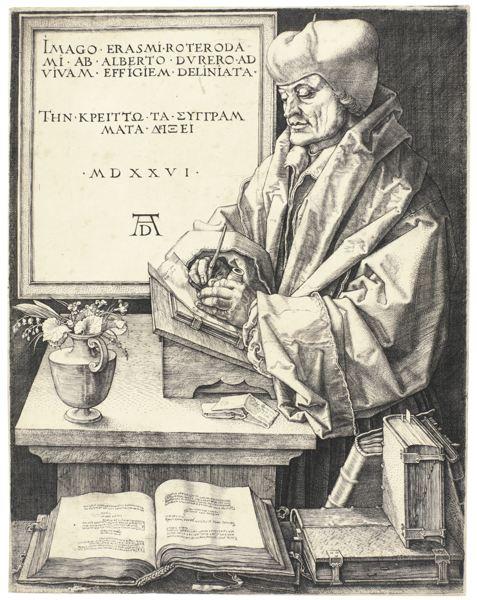 Albrecht Durer-Erasmus Of Rotterdam (B. 107; M., Holl., 105)-1526