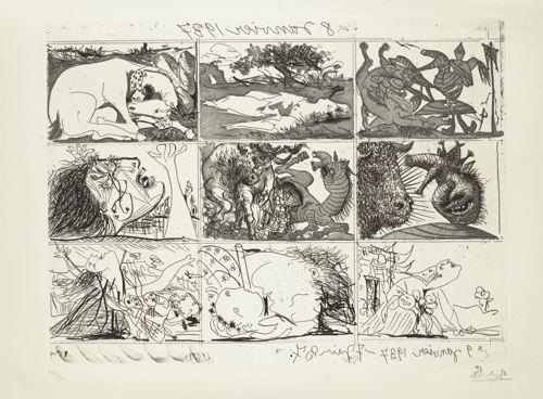 Pablo Picasso-Sueno Y Mentira De Franco (B. 297-298; Ba. 615-616; Cramer Books 28)-1937