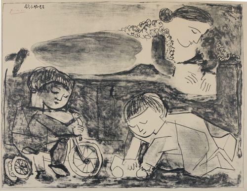 Pablo Picasso-Les Jeux Et La Lecture (B. 741; M., Pp. 240)-1953