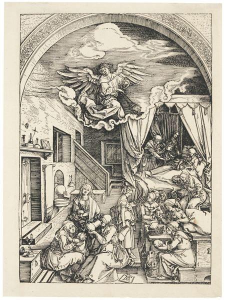Albrecht Durer-The Birth Of The Virgin (B. 80; M., Holl. 192)-1504