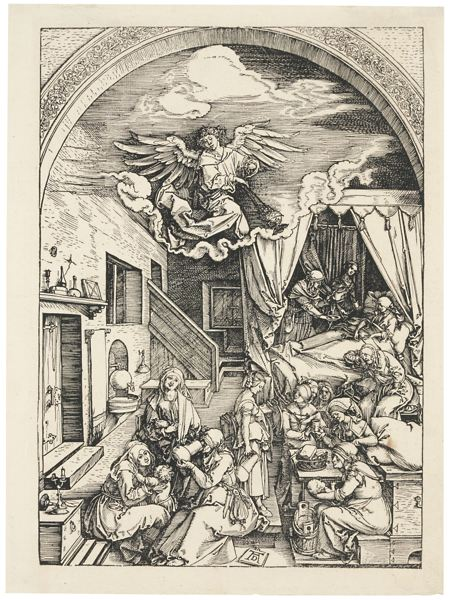 Albrecht Durer-The Birth Of The Virgin (B. 80; M., Holl. 192)-1504