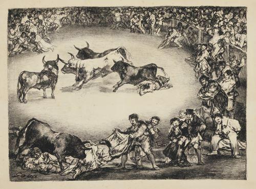 Francisco de Goya-The Bulls Of Bordeaux (Harris 283-286; Delteil 286-289)-1825