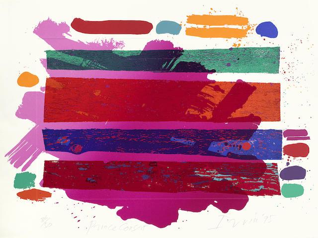 Various Artists - A Collection of Modern British Prints (Albert Irvin - Prince Consort, from Royal College of Art's 'Six Artists' portfolio; Elisabeth Frink - Coriolanus; Eduardo Paolozzi - Les Chants de Maldoror, Ducasse, from Royal College of Art's 'Six Artists' portfolio; Norman Ackroyd - Jackson's Pond, from Royal College of Art's 'Thirty Five Artists' portfolio, Paul Huxley - Untitled, from Royal College of Art's 'Thirty Five Artists' portfolio)-1995