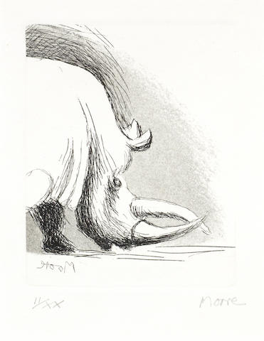 Henry Moore-Rhino, from Animals in the Zoo-1981