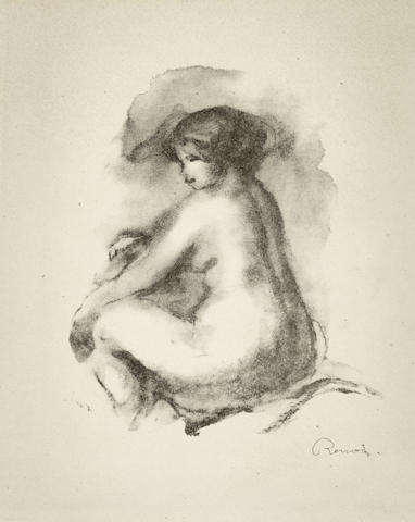 Pierre-Auguste Renoir-Etude de Femme Nue, Assise, from L'Album des douze Lithographies (Delteil 42)-1904