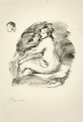 Pierre-Auguste Renoir-Etude de Femme Nue, Assise, Variante, (from L'Album des douze Lithographies) (Delteil 43)-1904