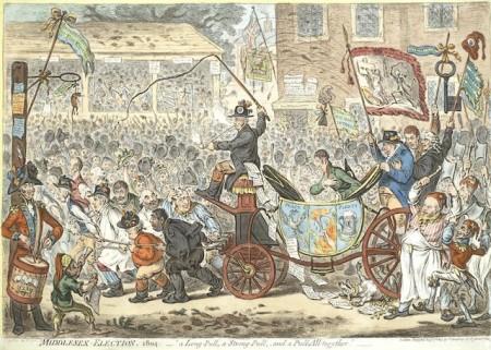 James Gillray-Middlesex Election-1804