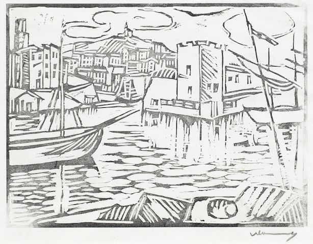 Maurice de Vlaminck-Le Vieux Port de Marseille-1912