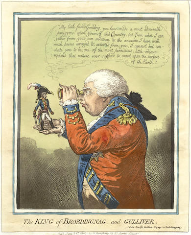 James Gillray-The King of Brobdingnag and Gulliver-1803