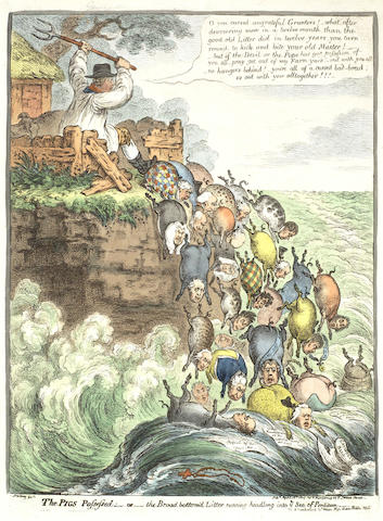 James Gillray-The Pigs Possessed-1807