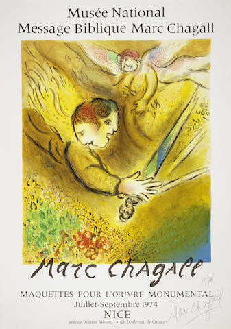 Marc Chagall-After Marc Chagall - L'Ange du Jugement-1974