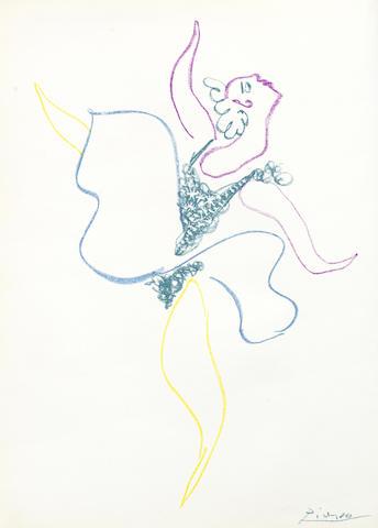 Pablo Picasso-Danseuse, from 'Le Ballet vol-1954