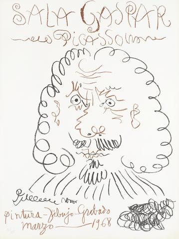 Pablo Picasso-After Pablo Picasso - Pintura-Dibujo-Grabado-1968