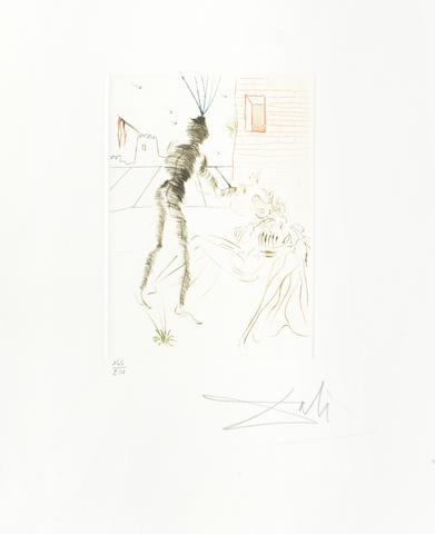 Salvador Dali-Three etchings from 'Much Ado about Shakespeare'-1970
