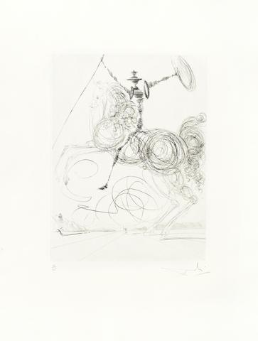 Salvador Dali-Don Quichotte-1964