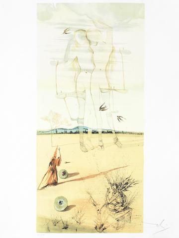Salvador Dali-Deux Nus (Gemeaux)-1970