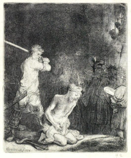 Rembrandt van Rijn-The Beheading of St John the Baptist-1640